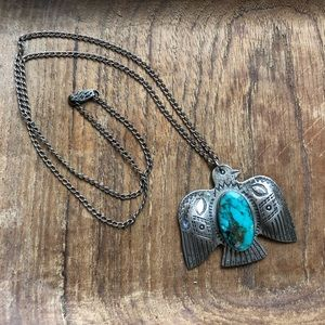 VTG Signed JP Native American Handcrafted Necklace